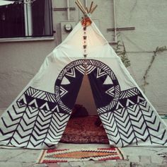 A tee-pee I painted in LA with my friend Faye, making its round on the ol Tumblr.