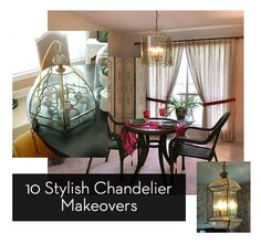 Chandelier Makeovers. This is great considering the entry chandelier is the ONLY light fixture in my house I haven't replaced yet.