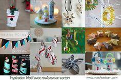 Inspiration Noël avec rouleau en carton. |     Guirlandes, personnages, suspensions, décorations tout est possible avec les rouleaux en carton....
