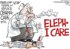 Republican Care by Pat Bagley for the Salt Lake Tribune