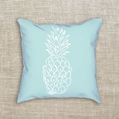 Welcome guests to your home with this mint pineapple decorative throw pillow. It's a great way to bring a nautical, coastal or beach feel to any home or nursery! #coastalbedroomsblue