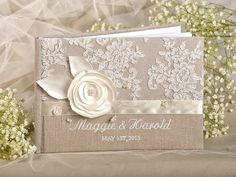 Wedding Guest book can be a great gift or a beautiful keepsake from your wedding. Wedding Wishes, Wedding Gifts, Rustic Wedding Stationery, Country Engagement, Engagement Pictures, Engagement Shoots, Engagement Photography, Wedding Engagement, How To Make An Envelope