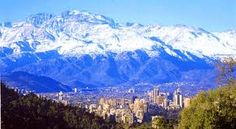 The Andes Mountains to the East.
