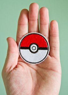 Pokeball  Embroidered Ironon Pokemon Patch by OKsmalls on Etsy, $5.00