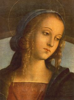 Pietro Perugino,The Madonna between St. John the Baptist and St. Sebastian (Detail), 1493