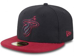 Logo Invert Miami Heat 59Fifty Fitted Cap by NBA x NEW ERA