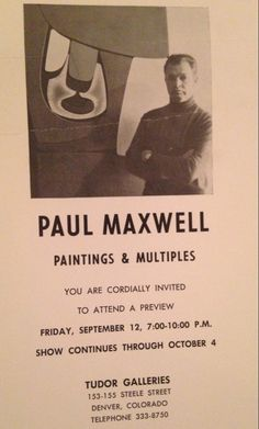 COMING SOON - Maxwell, Paul - Signed Limited Edition Stencil Cast Piece by TudorGalleriesDenver on Etsy