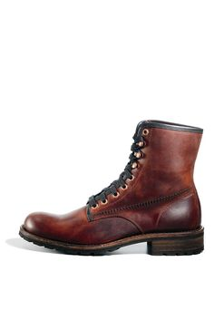 GIVINN BROWN LEATHER men's boot casual zipper - Steve Madden | For ...
