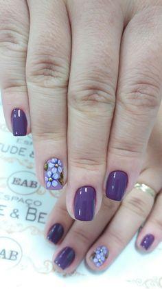 Fancy Nails, Cute Nails, Pretty Nails, White Nail Polish, Nail Polish Colors, Nail Drawing, Purple Nail Art, Summer Toe Nails, Flower Nail Art