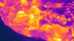 Infrared image of Turrialba Volcano