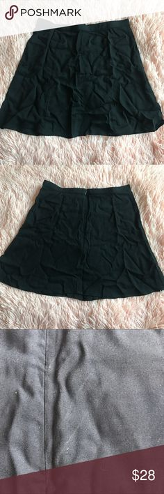 AA Lulu Mini Skirt NWOT American Apparel Lulu Mini Skirt in black. Very lightweight, thin material. Zipper in the back. There are a few lines as shown in the 4th photo, probably just from being folded I haven't tried to remove them. Size M  TAGS: UNIF FOREVER 21 URBAN OUTFITTERS AMERICAN APPAREL DOLLS KILL MISSGUIDED NASTY GAL ASOS TOPSHOP COTTON ON AA American Apparel Skirts Mini