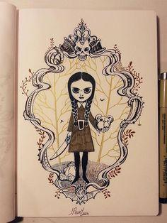 Wednesday Addams by Jérémie Addams for Inktober @Sketch_Dailies