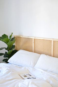 DIY cane headboard IKEA hack - DIY cane headboard IKEA hack The Effective Pictures We Offer You About diy furniture A quality pic - Ikea Headboard, Rattan Headboard, Diy Headboards, Headboard Ideas, Bedroom Hacks, Ikea Bedroom, Bedroom Sets, Bedroom Decor, Diy Ikea Hacks