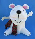 Polar Bear Milk Jug Recycle Craft for Kids
