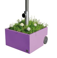 Rolling umbrella stand is likewise a grower or w/ice, holds drinks