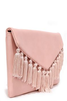 VIDA Leather Statement Clutch - Blush II by VIDA jY5TNZ0a1Z