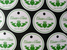 Hey, I found this really awesome Etsy listing at https://www.etsy.com/listing/187146789/100-claddagh-wedding-favor-tags