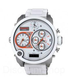 Diesel DZ7277 Mr. Daddy XXL Heren Horloge witte siliconen