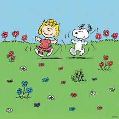 'A lovely Spring Day', Snoopy and Sally Brown. Peanuts Cartoon, Peanuts Snoopy, Peanuts Comics, Peanuts Characters, Cartoon Characters, Charlie Brown Und Snoopy, Sally Brown, Snoopy Quotes, Comics