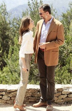 Then Princess Letizia & Prince Felipe of Spain