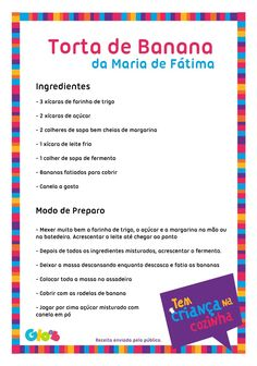 Torta de Banana da Maria de Fátima