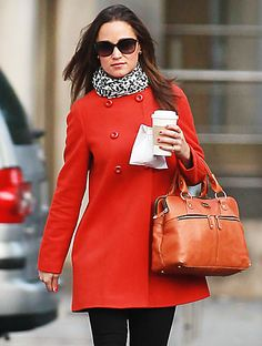 love pippa in this zara red coat! sad it's sold out  tho :(