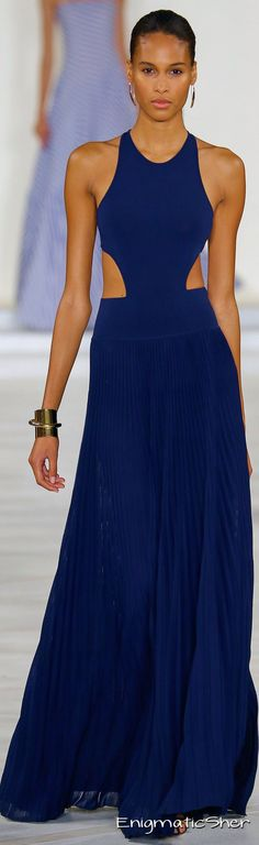 Ralph Lauren ~ Spring Navy Racerback Maxi Dress 2016