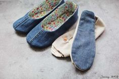청바지리폼(도안) 덧신만들기,패브릭DIY : 네이버 블로그 Diy And Crafts, Slippers, Denim, Sewing, Sneakers, Shoes, Repurpose, Fashion, Crochet Slippers