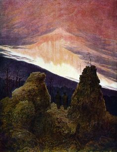 Northern Lights, Caspar David Friedrich, 1830-35    Lost Art: Masterpieces Destroyed in War