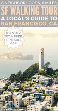 The Ultimate San Francisco Self-Guided Walking Tour! You'll see the best of San Francisco & it even comes with a free printable map with directions!