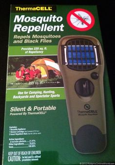gibts auch in Deutschland - www.rumsauer24.eu - ThermaCell Mosquito Repellent Device - hubby says this works great!