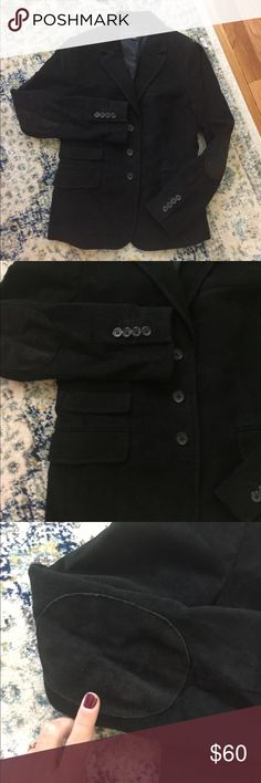 Jacket Black suede like material statement jacket. Perfect for the office with dress pants or skirt or with a cute pair of skinny blue jeans and some flats or sneakers. Nice heavy duty jacket. Perfect for the fall and winter months Banana Republic Jackets & Coats