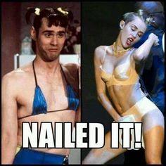 Nailed It Miley Cyrus Jim Carrey Common Memes, Twerk Meme, Jim Carrey, Belly Laughs, I Love To Laugh, Jokes Quotes, Funny People, Funny Cute, Humor