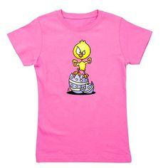 Easter Chick T-Shirt. #easter #easterchick #easteregg #Tshirt #Cafepress #Cardvibes #Tekenaartje