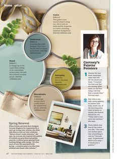 BHG Color Palettes | color palette from Better Homes & Gardens. Sherman Williams colors ...