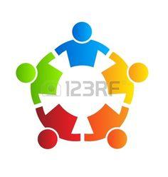 logo illustration vector design teamwork strong 5 group of business people People Logo, People Icon, Free Vector Files, Vector Free, Teamwork Logo, Social Network Icons, Branding Design, Logo Design, Graphic Design
