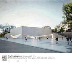 Gallery of Aires Mateus Wins Competition to Design New Pôle Muséal of Lausanne 4 is part of architecture - Image 4 of 10 from gallery of Aires Mateus Wins Competition to Design New Pôle Muséal of Lausanne © Aires Mateus Architecture Design, Museum Architecture, Cultural Architecture, Facade Design, Concept Architecture, Architecture Drawings, Landscape Architecture, Lausanne, Casa Farnsworth