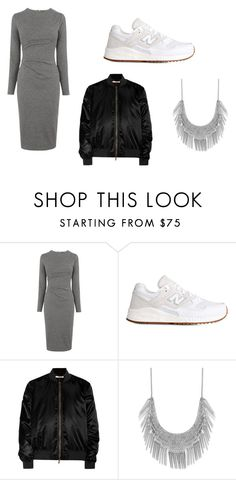 """grey midi"" by projekttrool on Polyvore featuring moda, Whistles, New Balance, Givenchy i Lucky Brand"