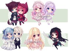 Chibi commissions 11 by LaDollBlanche.deviantart.com on @DeviantArt
