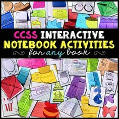 Interactive Notebook Reading Literature Bundle for Any Novel or Story (Grades This IS included in my Interactive Reading Notebook Mega Bundle. Standard Schnauzer, Middle School English, Book Organization, Mini Books, Lap Books, Fiction And Nonfiction, Kindergarten Reading, Teaching Resources, Teaching Ideas