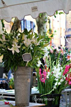 Zinc flower buckets france