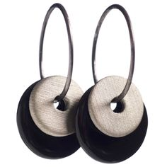 """Scherning GRAPHITE øreringe, dobbelte - Grå og sort #smykker #øreringe #scherning#graphite""""sort#grå"""
