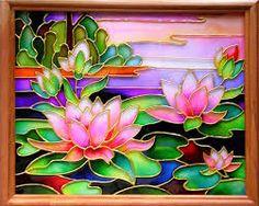 витражная роспись цветы эскизы - Поиск в Google