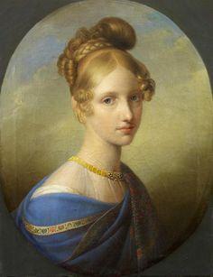 1839 or 1840 Princesse de Salerne, âgée de dix-sept ans by Johann Peter Kraft (Musée Condé - Chantilly France) | Grand Ladies | gogm