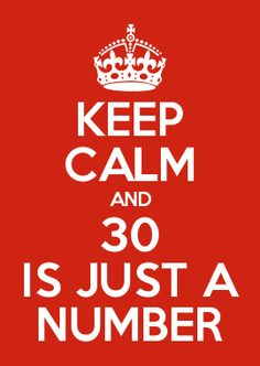 KEEP CALM AND 30 IS JUST A NUMBER