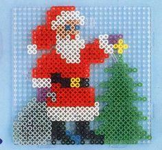Santa Claus Christmas hama perler pattern