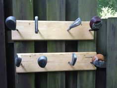 Coat rack from golf clubs on Etsy, $50.00