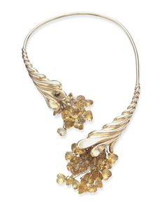 A CITRINE AND GOLD NECKLACE, BY FULCO DI VERDURA