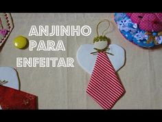 Anjinho para árvore de natal em tecido - YouTube