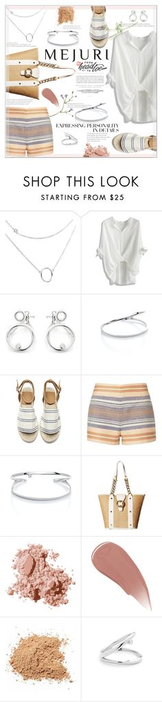 """Jen Chae & Mejuri"" by suzanne228 ❤ liked on Polyvore featuring Chicwish, Solid & Striped, Emma Fox, Bobbi Brown Cosmetics, Burberry, Vera Wang, Kerr®, contestentry and jenchaexmejuri"
